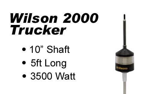 Wilson Trucker 2000 Antennas 10 Shaft w/ Clear Housing