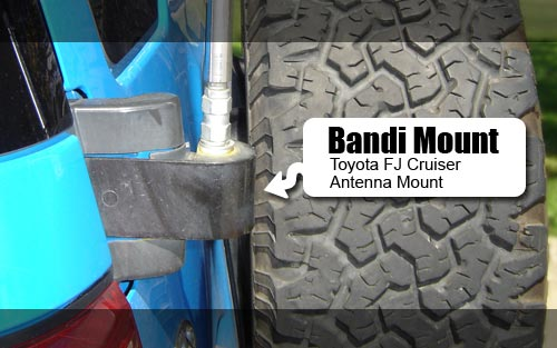 Bandi CB Antenna mount for Toyota FJ Cruiser