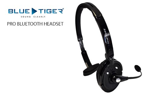 Blue Tiger Pro Bluetooth Headset with 20 hours Talktime and 350 Hours Standby