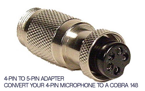 Lot of 4 Workman C4P5C 4-Pin Cobra Microphone to 5-Pin Cobra CB Mic Adapters