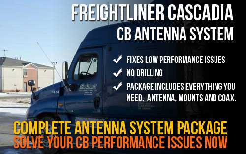 Freightliner Cascadia Complete Antenna System Package