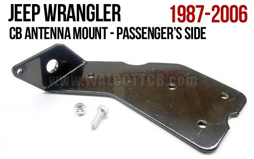 CBMR - Jeep Wrangler CJ, TJ, YJ Antenna Mount Passenger Side