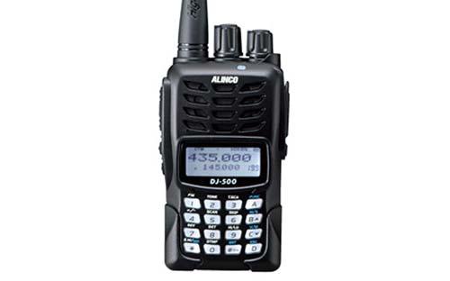 Alinco DJ500T Dual Band 144 - 148 MHz and 420 - 450 MHz FM Handheld Ham  Radio