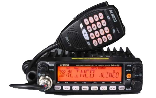 Alinco DR638T Dual Band 136 - 174 MHz VHF and 400 - 480 MHz UHF Type-90 Transceiver