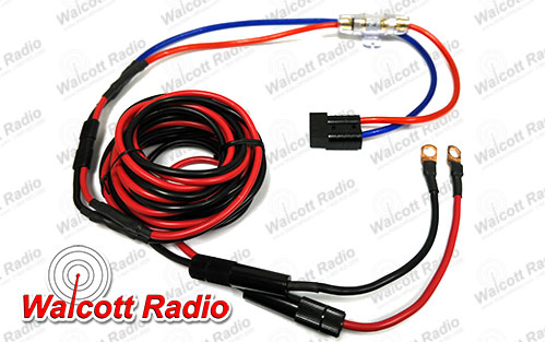 16 Foot 8 AWG Power Cord Battery Cable Kit Fused and Assembled