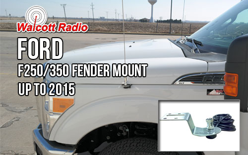Ford F250 2011-2017 and F350 2012-2017 and 2013 F450 CB Antenna Fender Mount