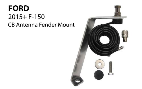 ford fender cb antenna mount for 2015 f150 trucks. Black Bedroom Furniture Sets. Home Design Ideas