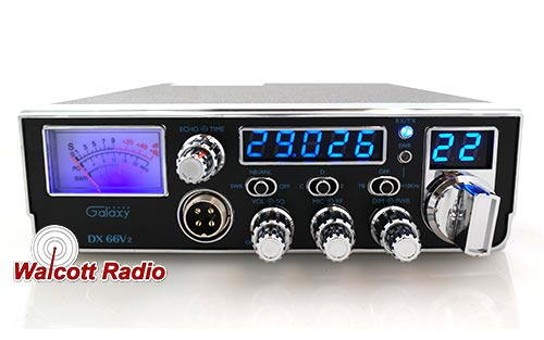 Galaxy DX66V2 Compact 10 Meter Radio with Echo