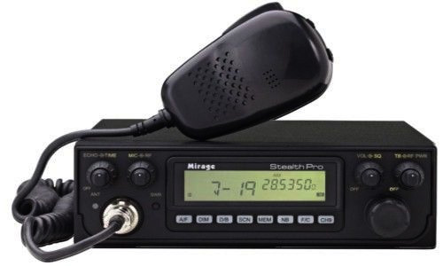 Mirage Stealth Pro 100 Watt Compact High Power 10 Meter Radio with Multi-Color Faceplate