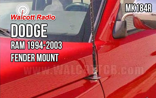 Firestik MK184R Dodge Ram/Dakota Hood/fender Antenna Mount Kit