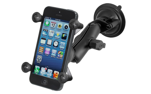 RAM Twist Lock Suction Cup Mount with Universal X-Grip Cell/iPhone Holder