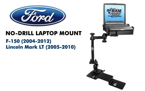 No Drill Laptop Mount For Ford F 150 04 13 Lincoln Mark Lt