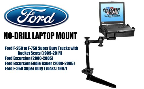 Ram Mount Ramvb185sw1 Laptop Mount For Ford Pickup Trucks