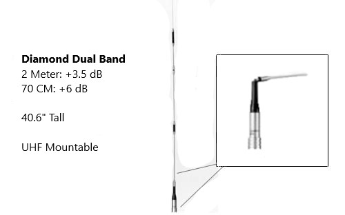 Diamond Antenna SG7500A Dualband Mobile Antenna