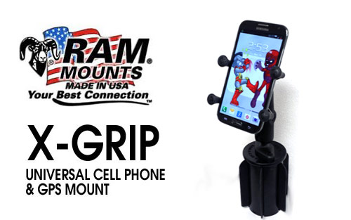 RAM-Mount X-Grip Mount with Cup Holder Base for Cell Phones, GPS