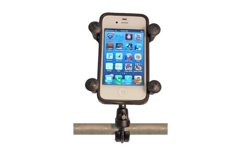 X-Grip for Cell Phones and Small GPS with Handlebar Mount