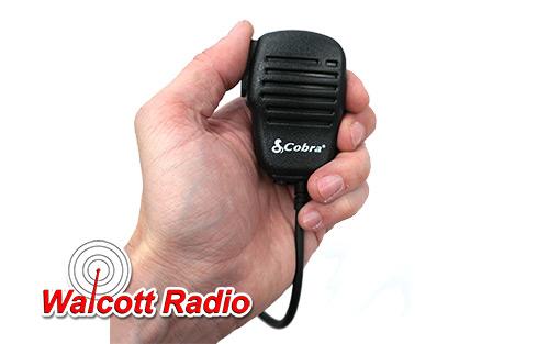 cobra pmrsm cobra label speaker/mic for handheld cobra cb radios