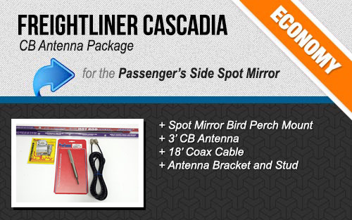 Freightliner Cascadia Spot Mirror Antenna System Package