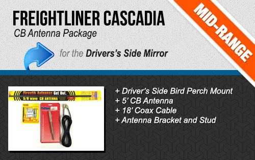 Freightliner Cascadia CB Antenna Package for Driver's Side Door