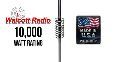 Predator 10-K Model K-1-22 Competition CB and 10 Meter Antenna with 22in Shaft 10000 Watt Rated
