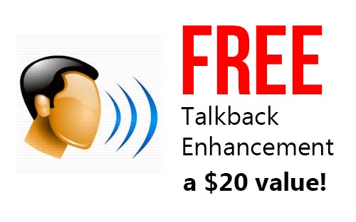 FREE Talkback Modification on this radio, a $20 value!