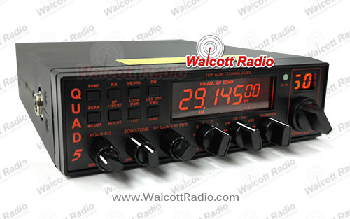 Top Gun Quad-5 All Mode Full Featured Computer Programmable 10 Meter Radio with Illuminated Faceplat