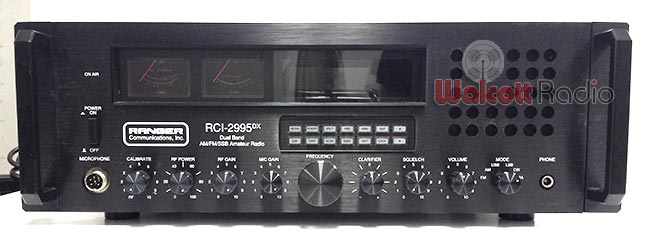 Ranger RCI 2995DX Base Station Controls Close Up