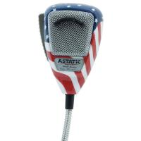 Astatic 636L-FLAG Stars N Stripes Noise Canceling CB Radio Microphone