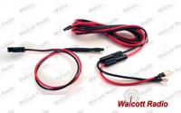 Heavy Duty Fused Battery Cable Power Cord Kit for High Output 10 Meter Radios