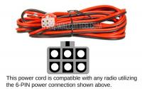 KW2000 Power Cord - For Hi-Power Galaxy, Ranger, Connex & Superstar Radios
