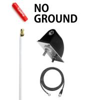 Firestik LG4M2W 4 No Ground Plane CB Antenna Kit - WHITE