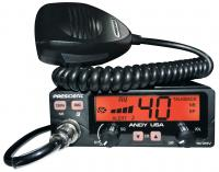 President ANDY Compact 12 and 24 volt CB Radio with Large LCD Screen