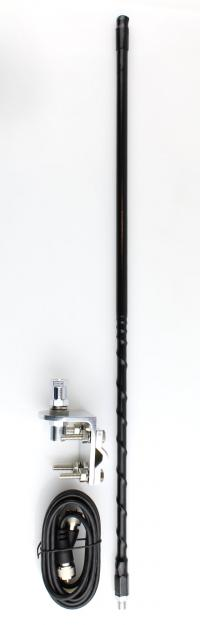 Two Foot Tall CB Antenna Kit - Black - With Coax and Mount