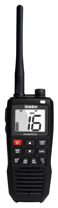 Uniden Atlantis 275 Handheld 2-Way VHF Marine Band Radio with NOAA Weather