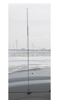 Hustler FG27S 4 Foot Low-Profile Stainless Steel CB Antenna