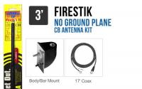 Firestik LG3M2B Black 3 No Ground Plane CB Antenna Kit