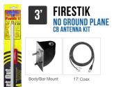 Firestik LG3M2W 3 White No Ground Plane CB Antenna Kit