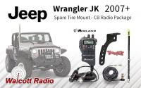 Complete Jeep Wrangler JK CB Radio Package - Spare Tire Antenna Mount