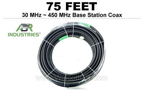 75' 25400F-PL-75 ABR Industries 400UF type 25400F Coax Cable