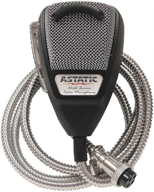 Astatic 636LSE Noise Canceling Microphone with Metal Cord