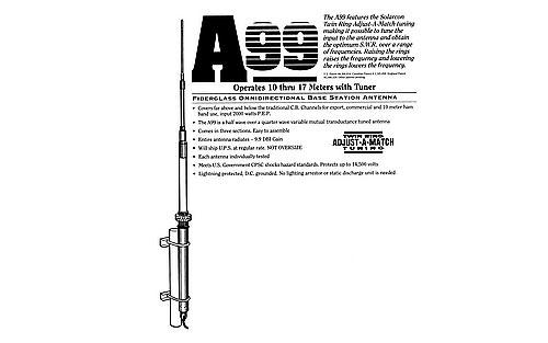 Solarcon Antron A-99 CB Radio Home Base Station Antenna
