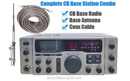 CB Radio and Antenna System Base Combo
