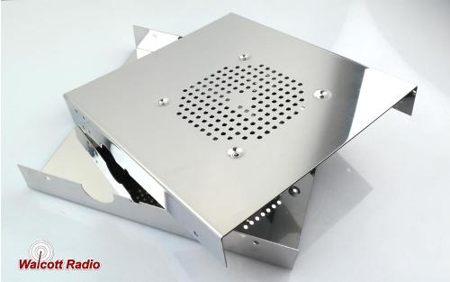 Stainless Steel Radio Case with Side Microphone for DX Style 10 Meter Radios