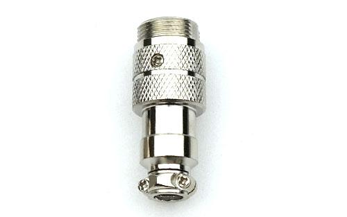 4-Pin Male Microphone Jack with Clamp