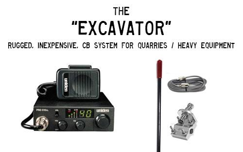 The Excavator CB Radio and Antenna Package for Heavy Equipment