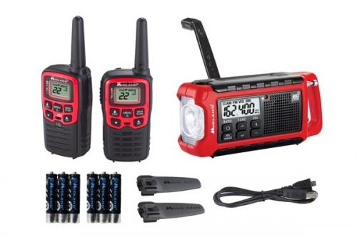 Midland EX210VP E+READY Bundle Crank Radio and Pair of FRS Hand Helds
