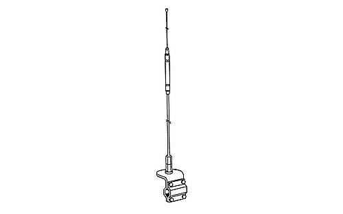 Hustler HQT 4 Single CB Antenna Kit - WHITE