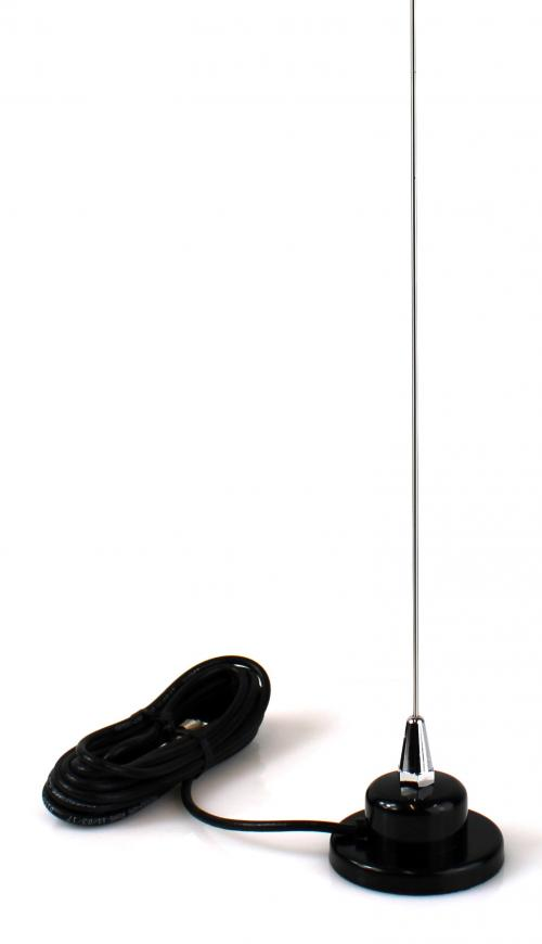 3 Foot Magnetic CB Radio Antenna with 17 Ft Coax
