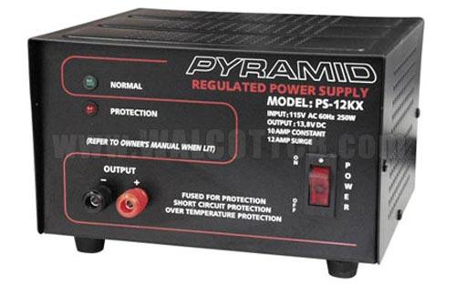 12 Amp 12V AC to DC Power Supply - Pyramid PS12KX