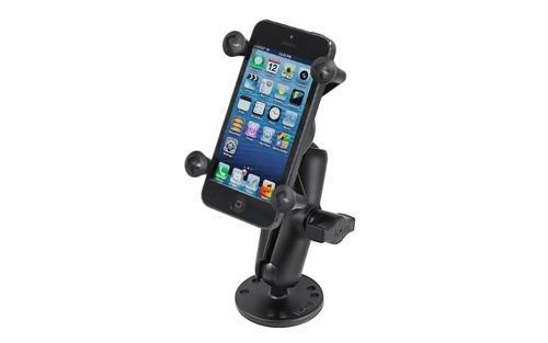 RAM Flat Surface Mount with Universal X-Grip Cell/iPhone Holder